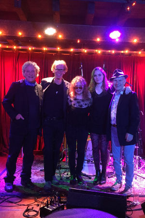 Eric Parker, Mike Muller, Beki Brindle-Scala, Joanna Griggs, Alan Sticky-Wicket at the Colony, October 2018