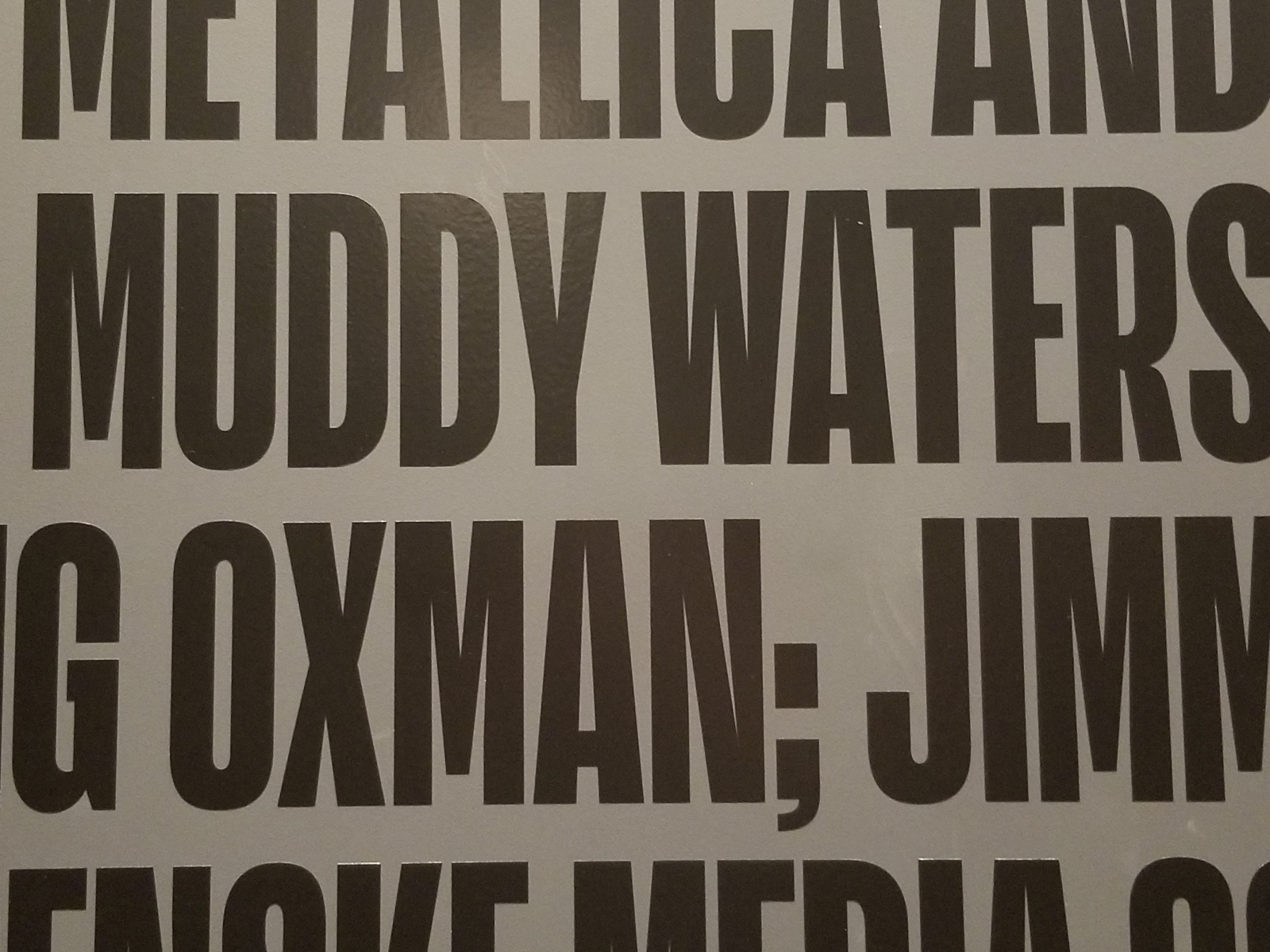 poster including muddy waters's name