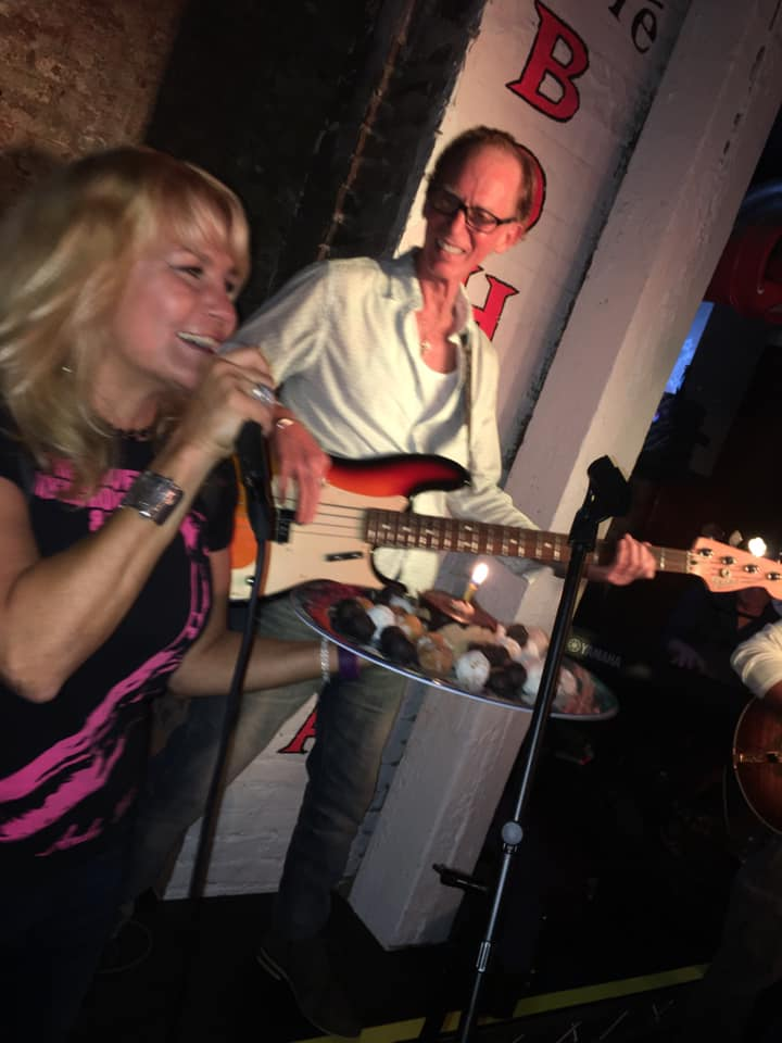 christine santelli sings happy birthday to mike muller at cafe bohemia august 2019